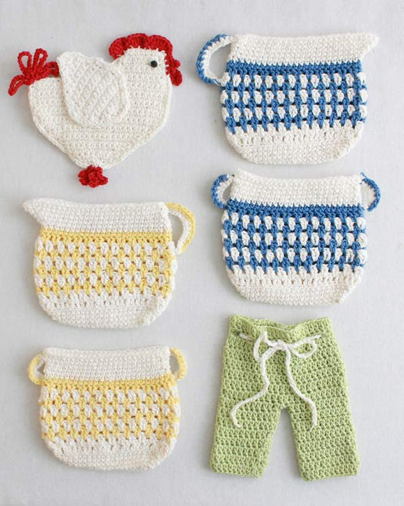Old Fashioned Potholders Set 2 Crochet Pattern - Maggie's Crochet