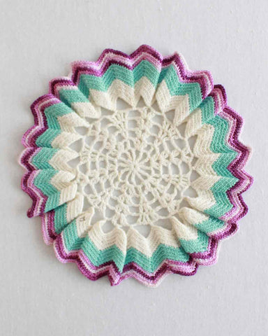 sunburst doily crochet pattern