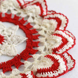 vintage crochet ripple edged doily