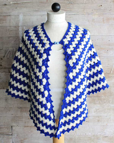 Vintage Granny Rows Capelet Crochet Pattern