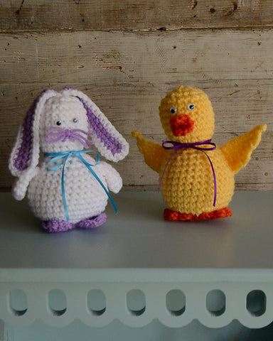 duck and bunny shelf sitters
