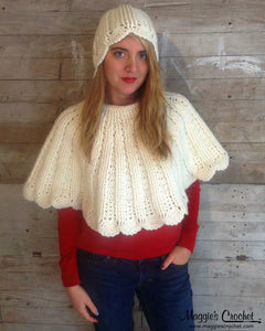 Cowl Wrap and Cloche Crochet Pattern PDF Download - Maggie's Crochet