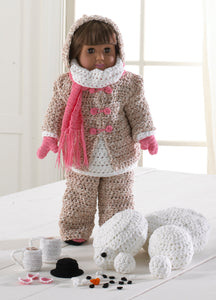 "18"" Doll Winter Fun Crochet Pattern - Maggie's Crochet"