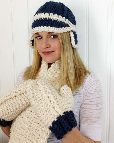 Chunky Cabled Set Crochet Pattern - Maggie's Crochet
