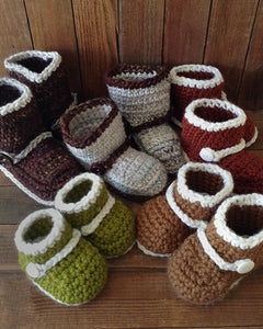 Boots 'n Booties Crochet Slipper Patterns for All Sizes