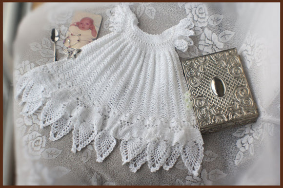 Celestial Christening Gown Crochet Pattern Download - Maggie's Crochet
