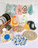 Dishcloths In The Round Crochet Pattern Set