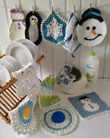 Winter Dishcloth Set Crochet Pattern