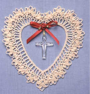 Cross Heart Suncatcher Crochet Pattern - Maggie's Crochet