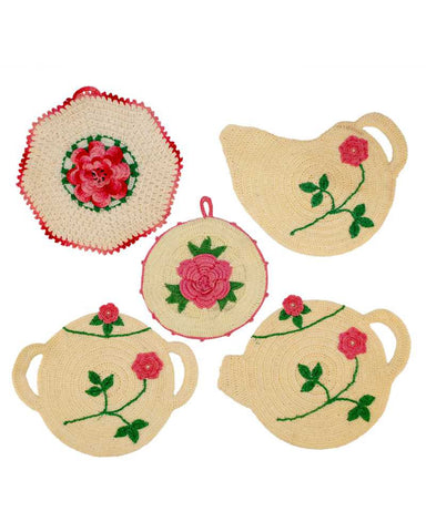 Vintage High Tea Potholders Crochet Pattern
