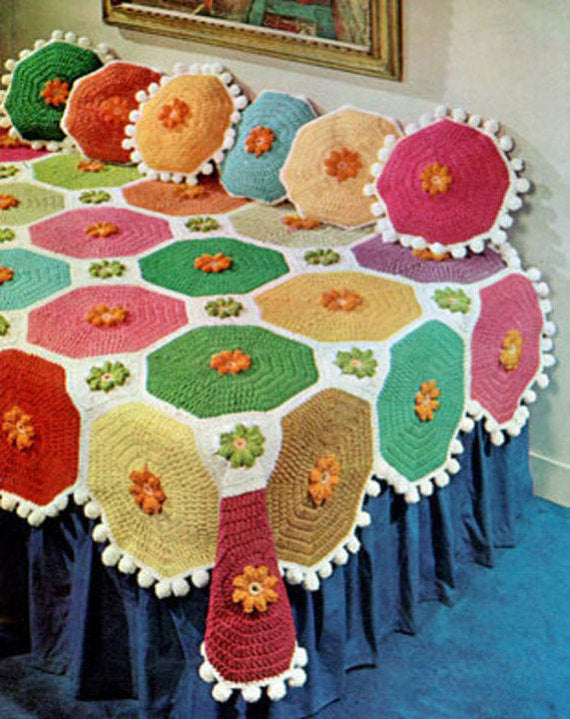 Scrap Retro Afghans Crochet Pattern