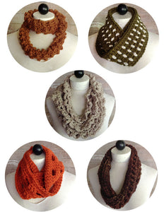 30-Minute Infinity Scarves Set 2 Crochet Pattern - Maggie's Crochet