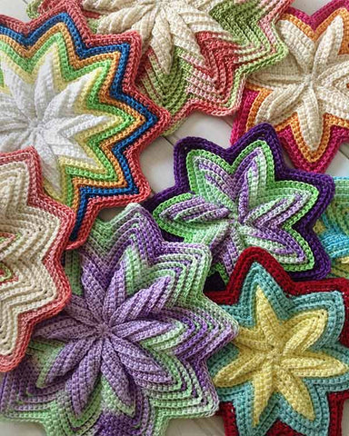 Scrap Mats & Coasters Set Crochet Pattern