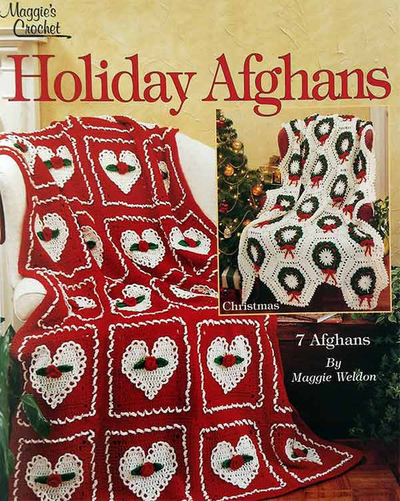 7 Holiday Afghan Crochet Patterns Leaflet - Maggie's Crochet