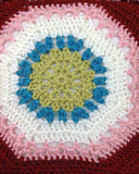 Hippie Chic Afghan & Pillow Set Crochet Pattern