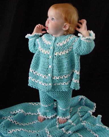 Blueberry Baby Layette Crochet Pattern