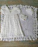 Blessed Christening Set Crochet Pattern