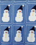 Snowman Afghan and Pillow Crochet Pattern