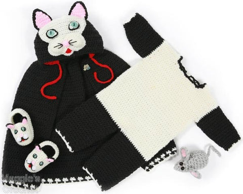 Cat Cape and Romper Set