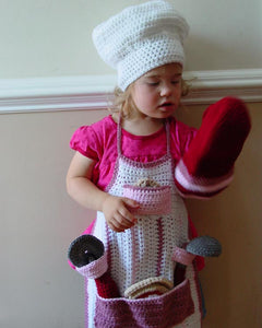 Cooking Katie Chef Set Crochet Pattern - Maggie's Crochet