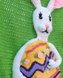 Easter Bunny Afghan, Pillow and Wall Hanging Crochet Pattern - Maggie's Crochet