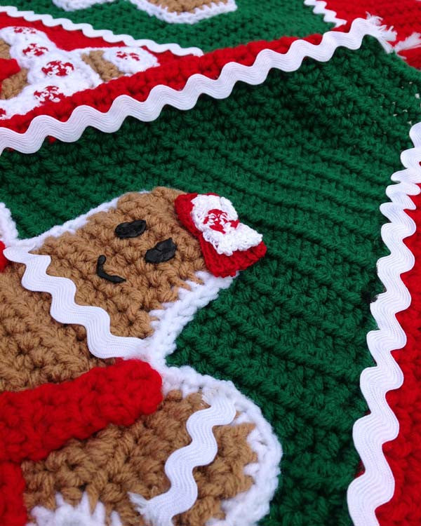Gingerbread Tree Skirt Crochet Pattern Maggies Crochet