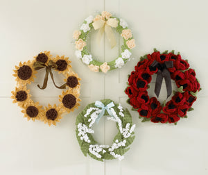 Floral Year of Wreaths - Set 2 (May to August) Crochet Pattern - Maggie's Crochet