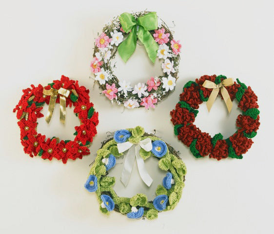 Floral Year of Wreaths Set 3 (Sept to Dec) Crochet Pattern - Maggie's Crochet