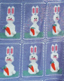 Easter Bunnies Afghan and Pillow Set Crochet Pattern - Maggie's Crochet