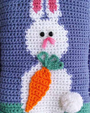 Easter Bunnies Afghan and Pillow Set Crochet Pattern