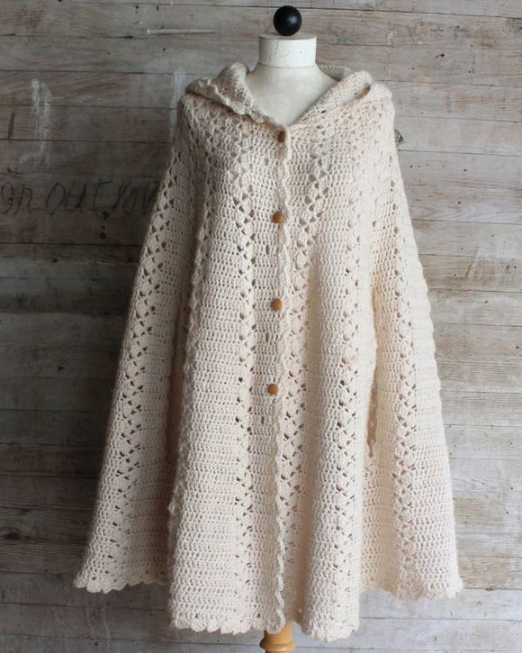 Long Hooded Cape Crochet Pattern Maggies Crochet