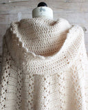 hood of crochet cape