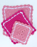 pink square hot pad