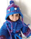 "18"" Doll Icelandic Ensemble Crochet Pattern - Maggie's Crochet"