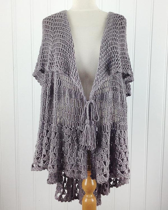 East Hampton Vintage Cape Crochet Pattern - Maggie's Crochet