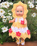 "Little Miss Sunshine for 15"" Dolls Crochet Pattern"