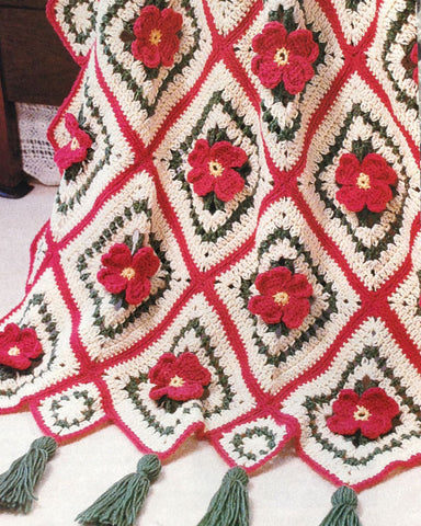 Apple Blossom Afghan Crochet Pattern