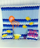 Paradise Reef Afghan & Pillow Set Crochet Pattern