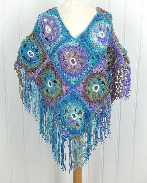 Lacy Floral Poncho Crochet Pattern - Maggie's Crochet