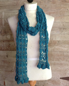 Shells & Lace Scarf Crochet Pattern