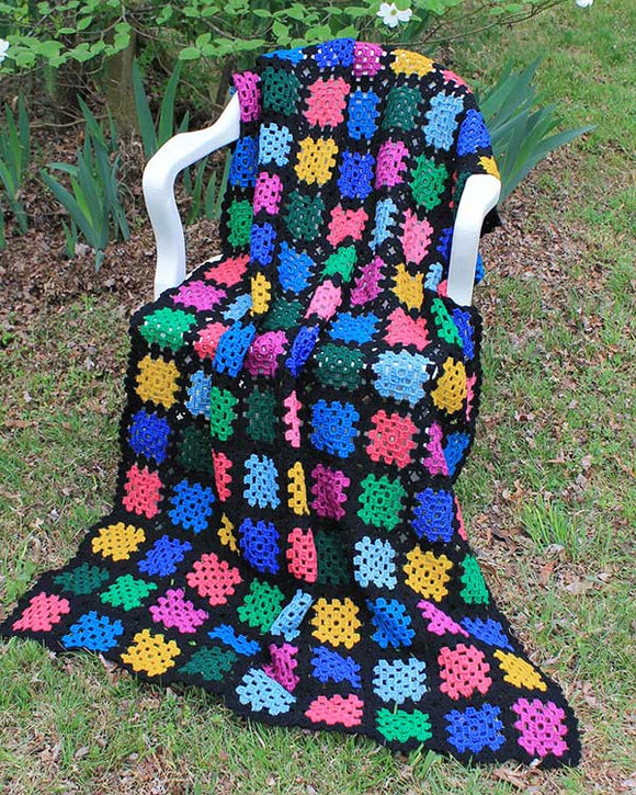 Simple Stash-Buster Granny Throw Crochet Pattern