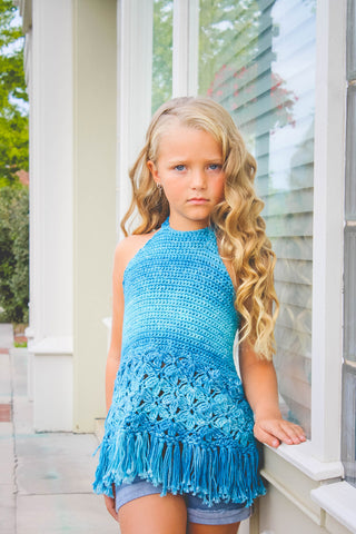 Rain Lily Halter Top Crochet Pattern Download