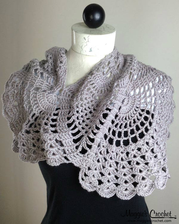 Pineapple Cowl Wrap Crochet Pattern PDF Download - Maggie's Crochet