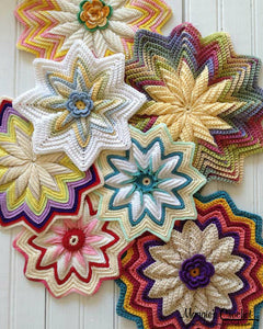 Scrap Potholders and Mats Set Crochet Pattern - Maggie's Crochet