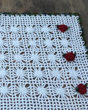 crochet red rose afghan