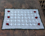 crochet red rose pattern