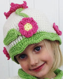 Flower Sweater and Hat Crochet Pattern