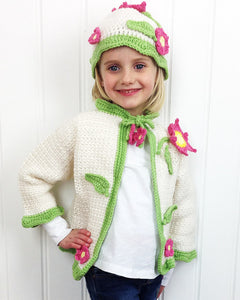 Flower Sweater and Hat Crochet Pattern - Maggie's Crochet