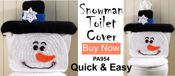 Snowman Crochet Pattern Toilet Cover