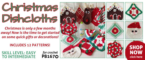 Christmas Dishcloth Set Crochet Pattern